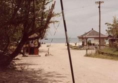 Kuta beach 1970, in front off hard rock cafe