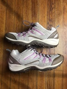 1f40c3f96f230e Details about Womens Merrell Payette Elephant   Pink Trail Shoes Sz.11 Mint  Condition