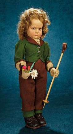 Forever Young - Marquis Antique Doll Auction: 84 Extremely Rare Italian Felt Character Doll, Series 100, as Hiker, by Lenci