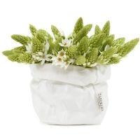 Kukkaruukut paperipussiin, näillä saisi kotiin vähän lämpöä ja pehmeyttä. UASHMAMA Valkoinen paperipussi S -koko