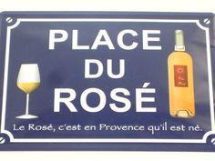 Plaque Métal Avenue Du Rosé
