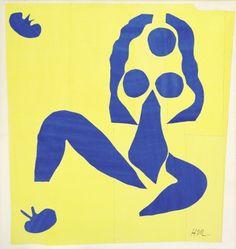 Henri Matisse Nu bleu, la grenouille, 1952 Papiers découpés peints à la gouache sur papier sur toile, 141 x 134 cm Fondation Beyeler, Riehen/Basel © 2013, Succession H. Matisse/ProLitteris, Zurich Photo: Peter Schibli, Bâle
