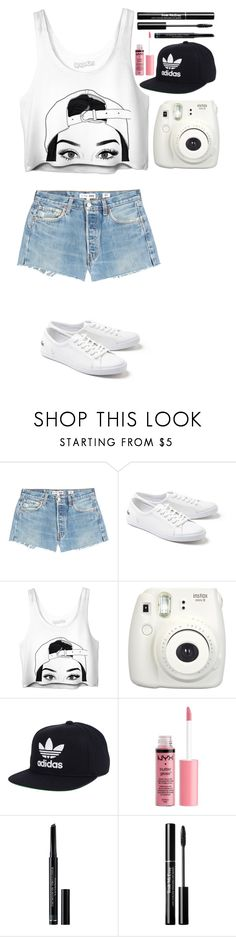 """Untitled #432"" by dutchfashionlover ❤ liked on Polyvore featuring RE/DONE, Lacoste, Fujifilm, adidas, Charlotte Russe and Christian Dior"