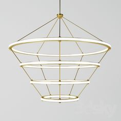 Halo Chandelier 4 rings by Roll&Hill