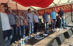 The Fisherman's Friends have started their set!.. Saw in Falmouth  Sea Shanty Festival.