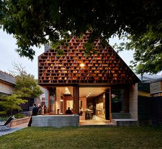 MAKE architecture | Local House; St Kilda, Melbourne, western facade timber screen