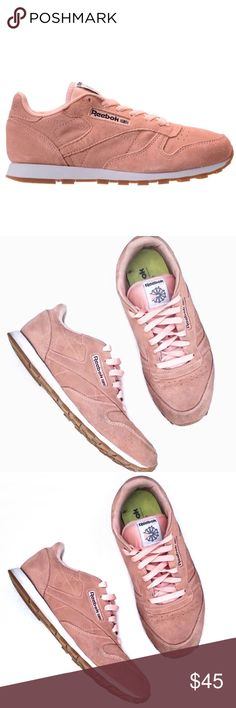 1b768ef0f8f07 Reebok Classic Leather Pastel (Pink) Sneakers Features leather upper in  pastel blush tone