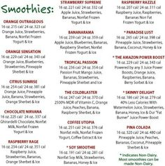 SMOOTHIES!