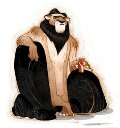 Lion, Thibault LECLERCQ on ArtStation at https://www.artstation.com/artwork/lion-75d0d654-d745-46c8-afe0-c562274117c9