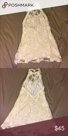 Free People Dress Size small Free People dress with crochet/lace detailing and open back Free People Dresses Mini