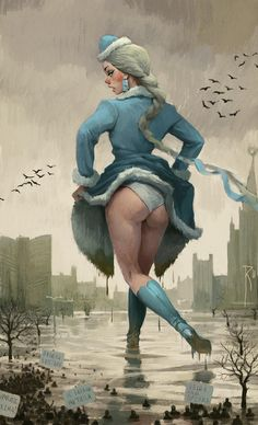 'Warm russian winter' , made by: Waldemar von Kozak Creative Illustration, Art And Illustration, Illustrations, Character Art, Character Design, Man Cave Art, Russian Winter, Dark Fantasy Art, Pulp Art
