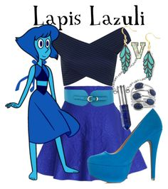 """Lapis Lazuli (Steven Universe)"" by fabfandoms ❤ liked on Polyvore featuring Mode, Chicwish, Cuteberry, Miss Selfridge und MANOLO"