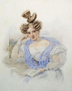 Портрет молодой женщины с книгой, 1839