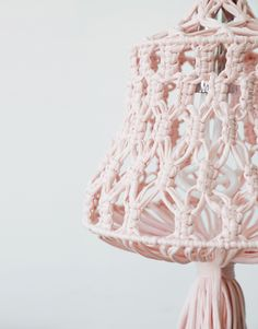 Shine a Light Shade featuring macrame by wool and the gang and plumen light