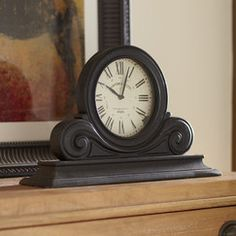 Boulevard Table Clock   Modeled after a Parisian antique, this clock has vintage-inspired numerals and is finished in black.