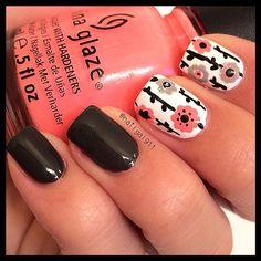 Diseño de uñas - uñas con flores