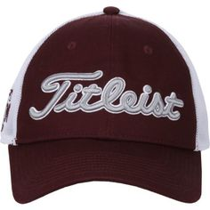 Titleist Men's Texas A&M University Twill Mesh Cap (Red Dark, Size One Size) - NCAA Licensed Product, NCAA Men's Caps at Academy Sports