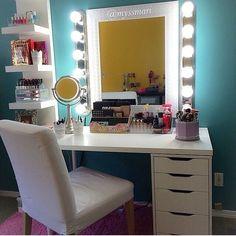 My New IKEA Makeup Vanity, DIY Style | Ikea drawers, Makeup ...