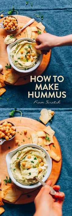FLUFFY Perfect Hummus from scratch! 6 ingredients, simple methods, SO delicious! #hummus #vegan #glutenfree #plantbased #minimalistbaker