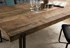 Table à manger industrielle teck recyclé 200x90 SWING | Tables à manger | Pier Import Table Design, Dining Table, Rustic, Acacia, Pier Import, Furniture, Home Decor, Tables, Unique
