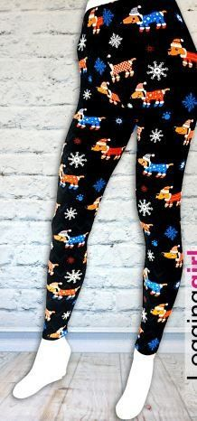 Extra Plus Dog Daschund Christmas Leggings Fits Womens Sizes Fits misses sizes 16 through size These are buttery soft leggings! Christmas Leggings, Winter Leggings, Grey Leggings, Best Leggings, Awesome Leggings, Dachshund Funny, Latest Fashion For Women, Womens Fashion, Buttery Soft Leggings