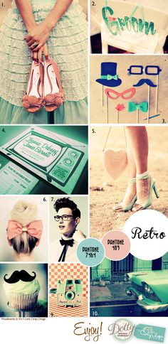 retro wedding | Moodboard Monday - Retro and Vintage Weddings - Dotty Vintage Weddings