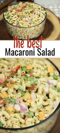 This is the perfect recipe for any BBQ, potluck or party.  This easy macaroni salad is a crowd pleaser at every get together.  Also, this classic recipe is budget friendly and is great to feed a crowd.  I hope you enjoy this one as much as I do! #eatingonadime #macaronisalad #quickrecipes #amazingsidedishes