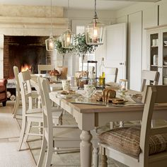 Welcome to Laura Ashley where you can shop online for exclusive home furnishings and womenswear_EN(Glass Bottle Lights) Kitchen Lighting Fixtures Ceiling, Shabby Chic Kitchen, Kitchen Dining, Laura Ashley Kitchen, Glass Kitchen Tables, Kitchen Decor, Dining, Kitchen Diner, Kitchen Dining Room