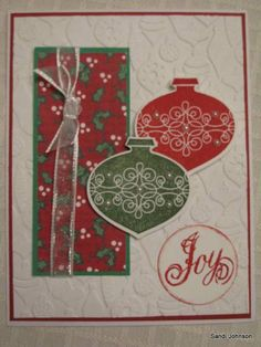 Joy ornaments by sandijcrafts - Cards and Paper Crafts at Splitcoaststampers