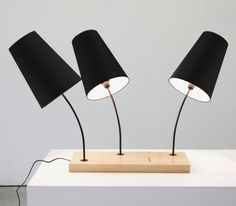 Three-Shade Table Lamp By Gonçalo Campos  (furniturefashion.com)