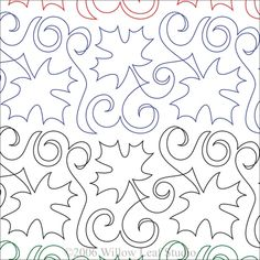 Maple Syrup Digital Machine Quilting Pattern by ClothWerx Quilting Stencils, Quilting Templates, Longarm Quilting, Free Motion Quilting, Quilting Tips, Quilting Tutorials, Hand Quilting, Machine Quilting Patterns, Quilt Patterns