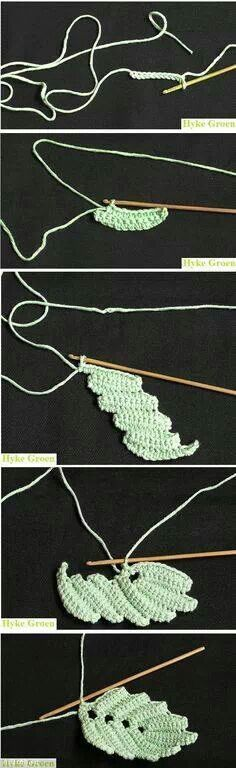 irish crochet leaf pattern...
