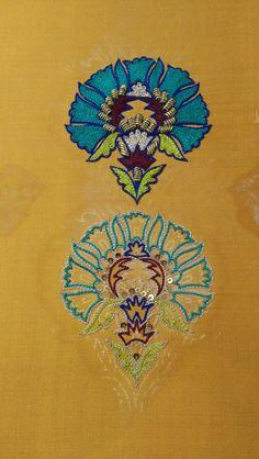 Zardozi Embroidery, Hand Embroidery Dress, Embroidery On Kurtis, Kurti Embroidery Design, Tambour Embroidery, Hand Embroidery Videos, Embroidery On Clothes, Hand Embroidery Patterns, Embroidery Stitches
