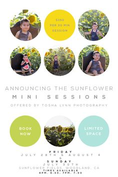 Woodland Sunflower mini sessions! – Summer Session Series! LIMITED times & dates available! » Tosha Lynn Photography