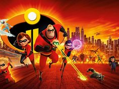 2018, Animation movie, Superheroes family, The Incredibles 2, poster wallpaper