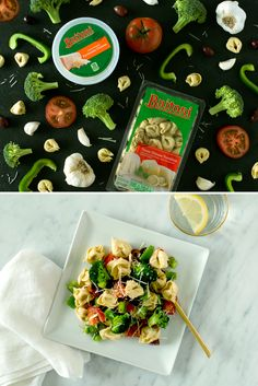 This Firecracker Pasta Salad is loaded with color and fresh flavor — grab Buitoni Three Cheese Tortellini from the fridge along with tomatoes, olives, bell peppers, broccoli and garlic, and have dinner ready in under 20 minutes!