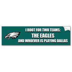 Go Eagles, Dallas Sucks Bumper Sticker