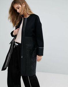 Пальто со стеганой отделкой Urbancode Ivanna