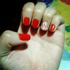 Rojo y blanco. Como unos dulces