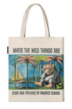 Where the Wild Things Are Tote Bag 100% cotton canvas tote bag featuring Maurice Sendak's classic cover art from the 1963 children's classic! https://t.... - ¡Ay Caramba! Books, Gifts and More - Google+