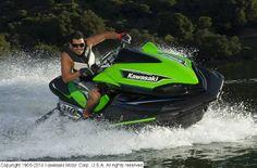Great action shot of the 2014 Kawasaki Jet Ski® Ultra® 310R