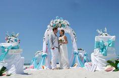 Hochzeits Rundbogen Türkis Rosa Tiffany`s