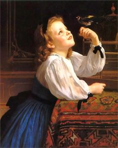 The Bird Ch ri by William-Adolphe Bouguereau, 1867