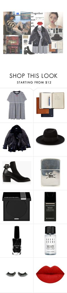 """""""TOGETHER OR NOT AT ALL"""" by milda-mint ❤ liked on Polyvore featuring Bulgari, Maison Michel, MANGO, Ugo Cacciatori, MAKE UP FOR EVER, Givenchy, Azature and Bobbi Brown Cosmetics"""