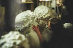 girl, kiss, and sculpture image
