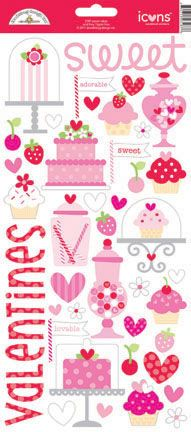 Doodlebug Design - Sweet Cakes Collection - Sugar Coated Cardstock Stickers - Icons at Scrapbook.com
