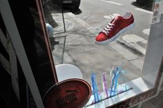 Puma Sneakers Levitates Shoes in Bus Stop Terminal Guerrilla Marketing Photo