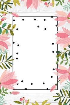 Cute Wallpapers, Wallpaper Backgrounds, Iphone Wallpaper, Invitation Background, Decorative Borders, Flamingo Party, Borders And Frames, Floral Border, Flower Frame