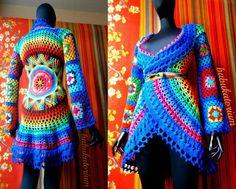 Crochet mandala sweater by babkorium
