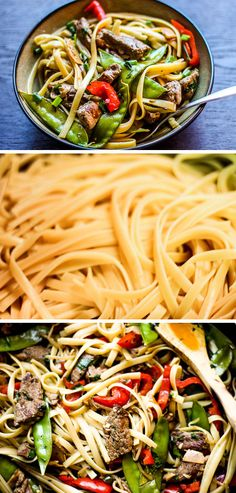 Steak and Veggies Noodle Stir Fry | Healthy Stir Fry Recipes | Quick and Easy Dinner Recipes for Family